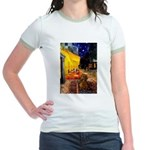 Cafe /Dachshund Jr. Ringer T-Shirt