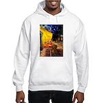 Cafe /Dachshund Hooded Sweatshirt