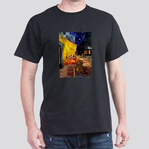 Cafe /Dachshund Dark T-Shirt