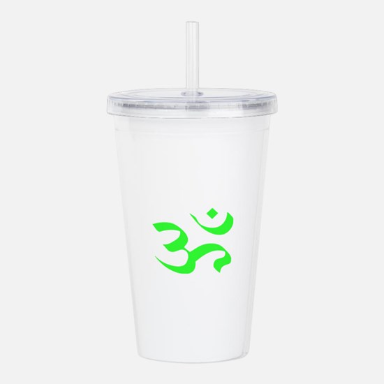 Green aum Ohm Acrylic Double-wall Tumbler
