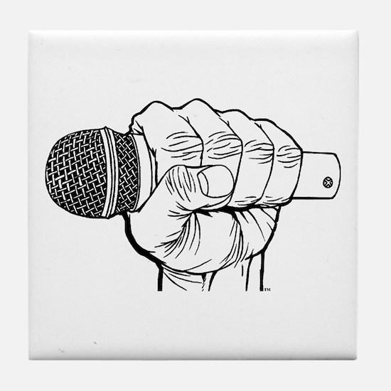 Microphone Fist Tile Coaster