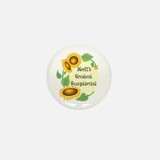 World's Greatest Receptionist Mini Button