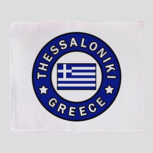 Thessaloniki Greece Throw Blanket