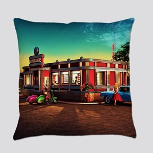 Vintage Restaurant Everyday Pillow
