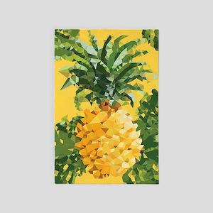Pineapple Low Poly Tropical Art 4' X 6' Ru