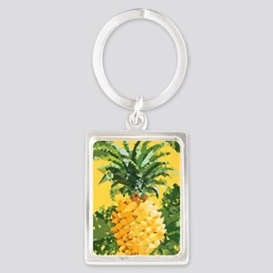 Pineapple Low Poly Tropical Art Keychains