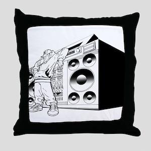 Boombox Throw Pillow