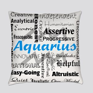 Aquarius Collage Everyday Pillow