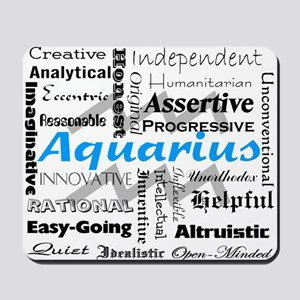 Aquarius Collage Mousepad