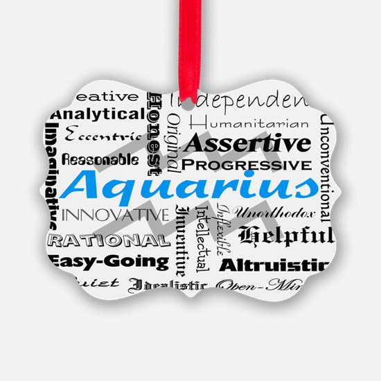 Aquarius Collage Ornament