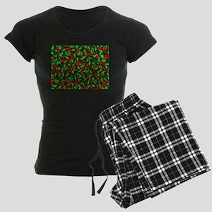 red green pills Women's Dark Pajamas