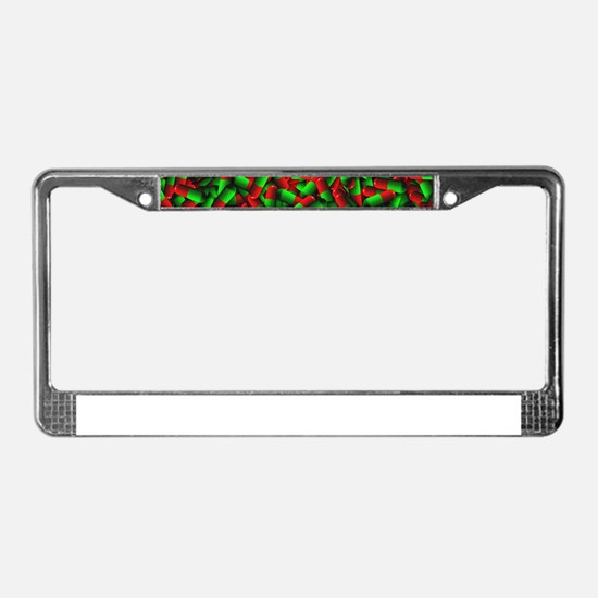 red green pills License Plate Frame