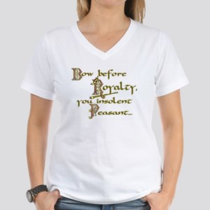 Bow Before Royalty Women's V-Neck T-Shirt
