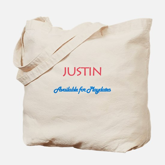 Justin - Available for Playda Tote Bag