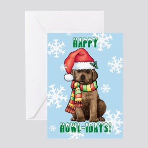 Holiday Labrador Greeting Card