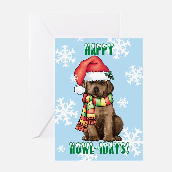 Holiday Labrador Greeting Card