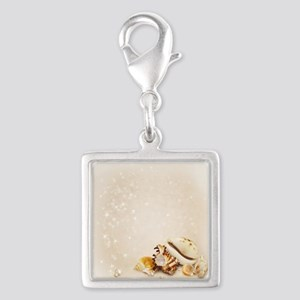 Magic Shells Silver Square Charm