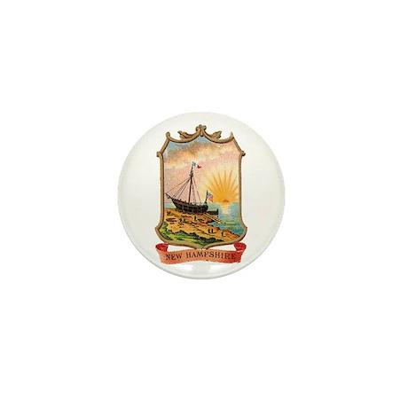 New Hampshire Coat of Arms Mini Button
