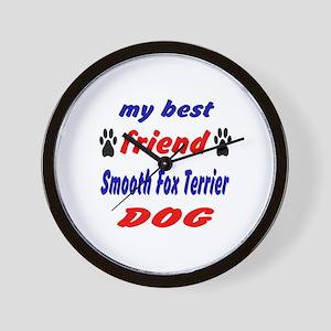 My Best Friend Smooth Fox Terrier Dog Wall Clock