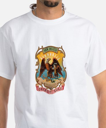 New Mexico Coat of Arms White T-Shirt