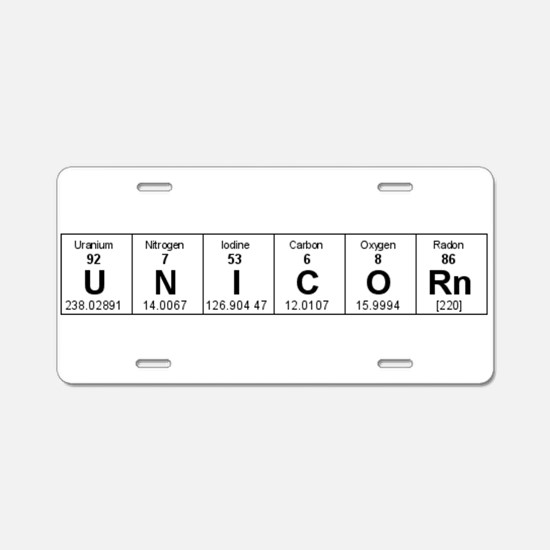 Periodic table elements Aluminum License Plate