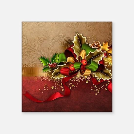 """Christmas Decor Square Sticker 3"""" x 3"""""""