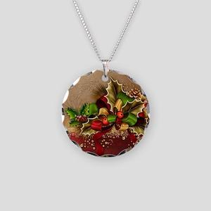 Christmas Decor Necklace Circle Charm