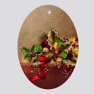 Christmas Decor Oval Ornament