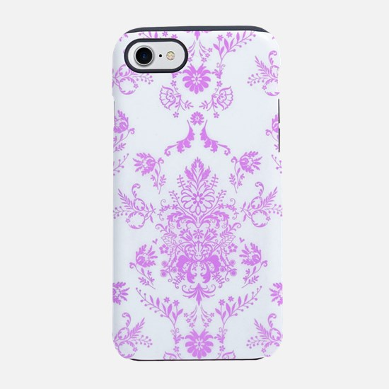 Purple Damask iPhone 8/7 Tough Case