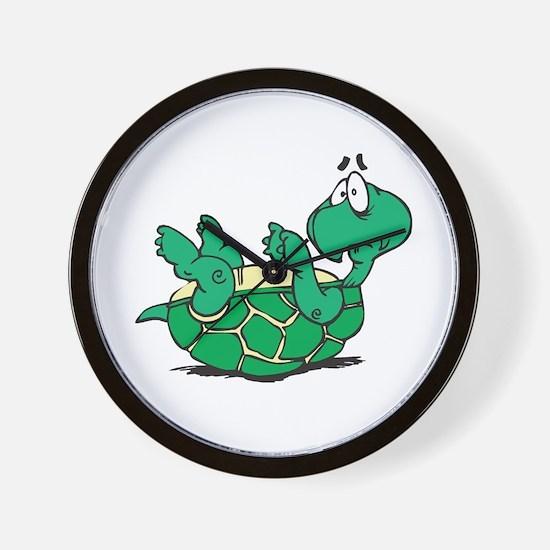 Scared Little Turtle Wall Clock