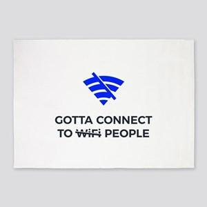 Connect to People Not Wifi Human To 5'x7'Area Rug
