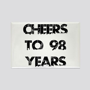 Cheers To 98 Years Designs Rectangle Magnet