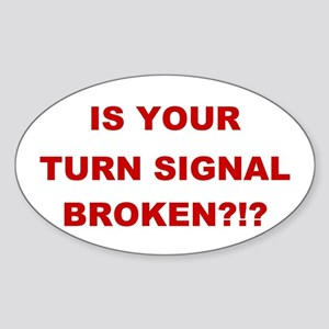 Turn Signal Stacked Oval Sticker
