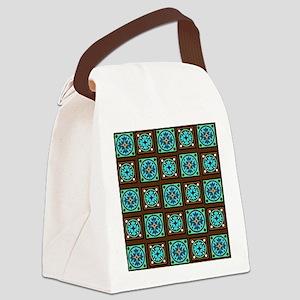 Amish Textile Print Canvas Lunch Bag
