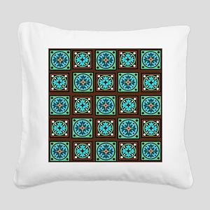 Amish Textile Print Square Canvas Pillow