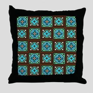 Amish Textile Print Throw Pillow