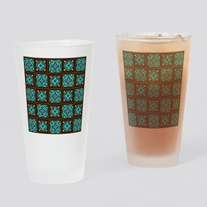 Amish Textile Print Drinking Glass