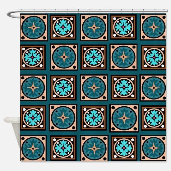 Best Blues Quilt Design Shower Curtain