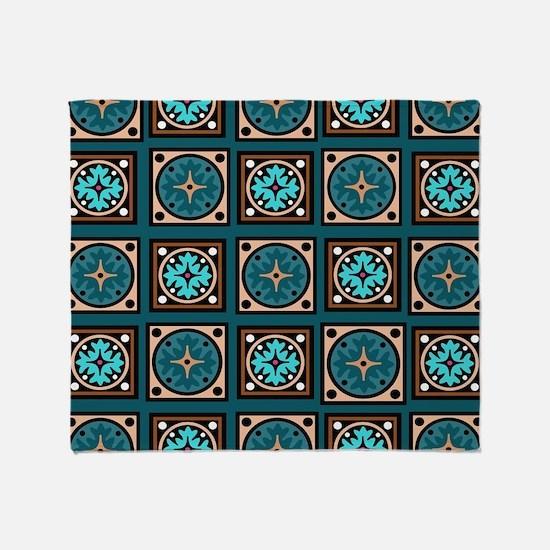 Best Blues Quilt Design Throw Blanket