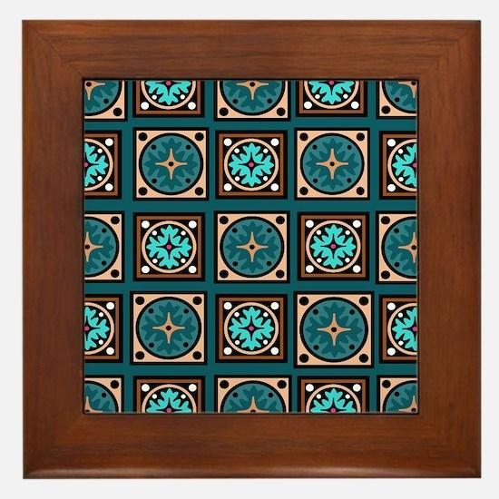 Best Blues Quilt Design Framed Tile