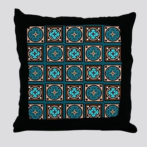 Best Blues Quilt Design Throw Pillow