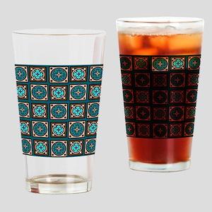 Best Blues Quilt Design Drinking Glass
