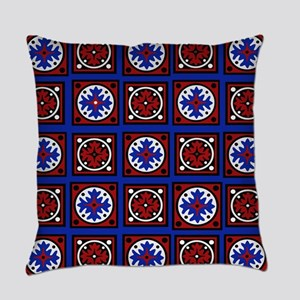Americana Quilted Tile Print Everyday Pillow