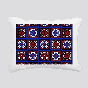 Americana Quilted Tile Print Rectangular Canvas Pi
