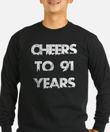 Cheers To 91 Years Design T