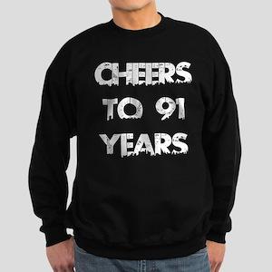 Cheers To 91 Years Designs Sweatshirt (dark)