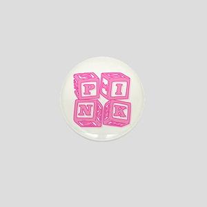 Pink (Baby Blocks) Mini Button