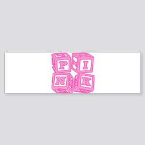 Pink (Baby Blocks) Bumper Sticker