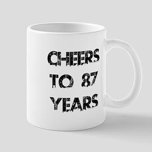 Cheers To 87 Years Designs Mug