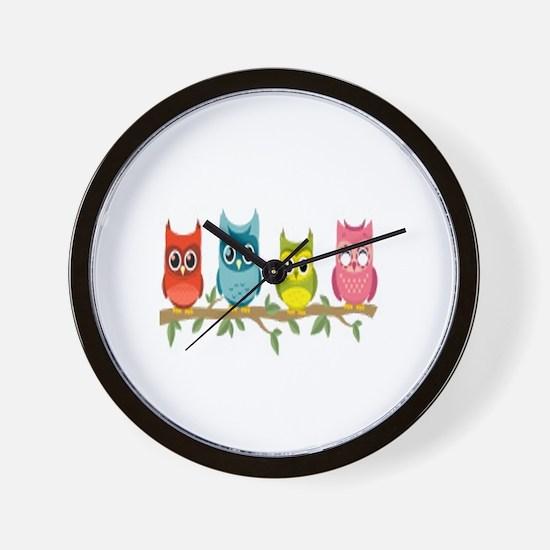 Unique The owl box Wall Clock